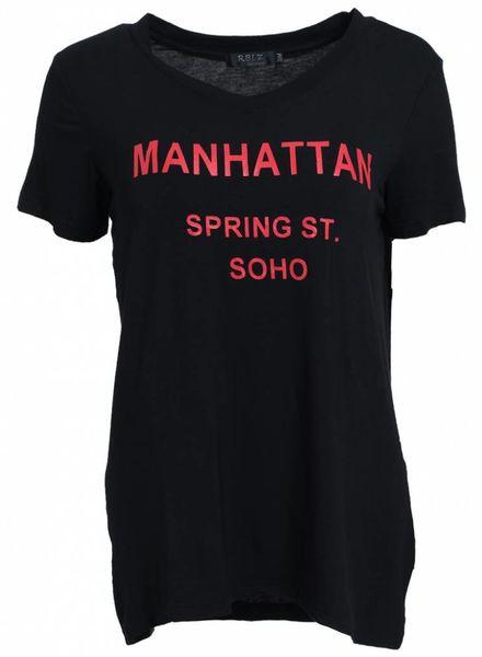 Rebelz Collection Shirt Manhattan zwart/rood
