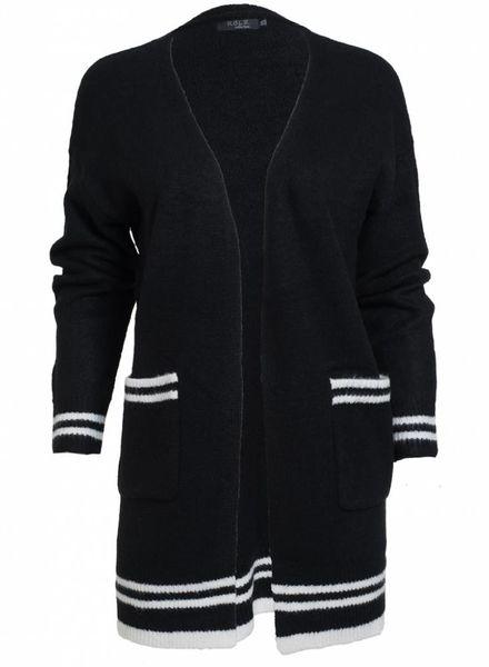 Rebelz Collection Vest Kato zwart/wit