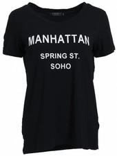 Rebelz Collection Shirt Manhattan zwart/wit