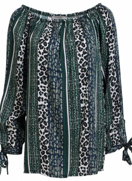 Gemma Ricceri Blouse Jolien Gucci groen/zwart