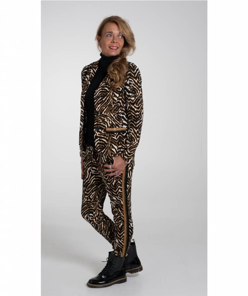 Magnifiek Blazer tijgerprint bies camel - Wannahavesfashion #WU33
