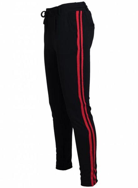 Rebelz Collection Pantalon Roxie zwart/rood