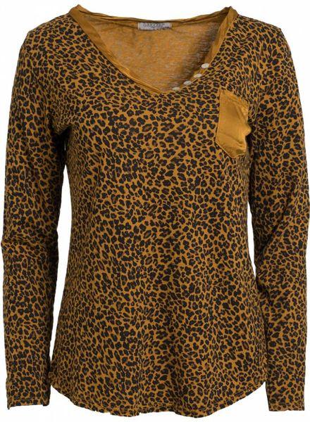 Gemma Ricceri Shirt panter Pip okergeel