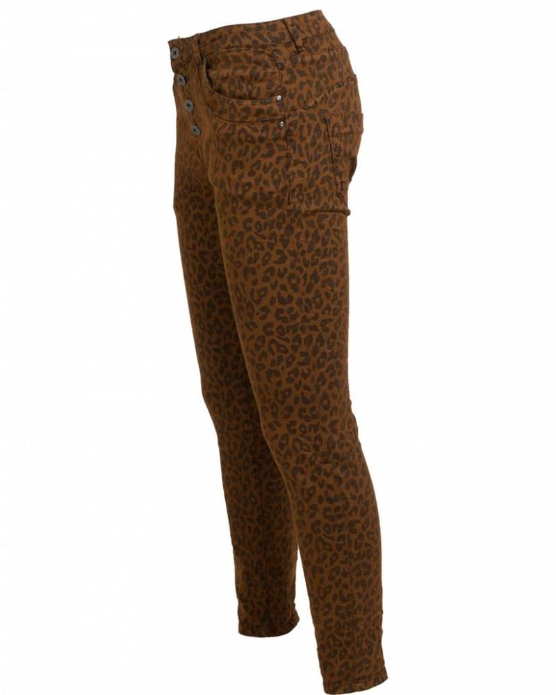 place du Jour Jog jeans panter Joli bruin