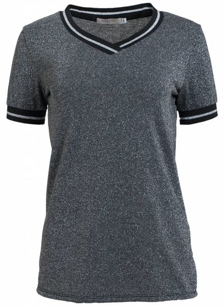 Gemma Ricceri Shirt Dorien zwart/grijs