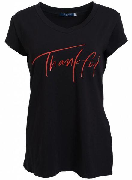 Gemma Ricceri Shirt Thank ful zwart/rood