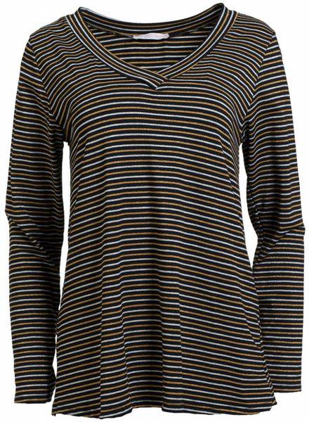 Gemma Ricceri Shirt streep Liv okergeel/zwart