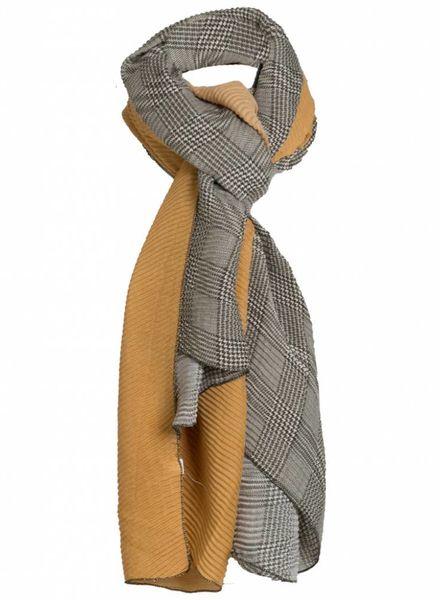 Sjaal fijne ruit groen/geel
