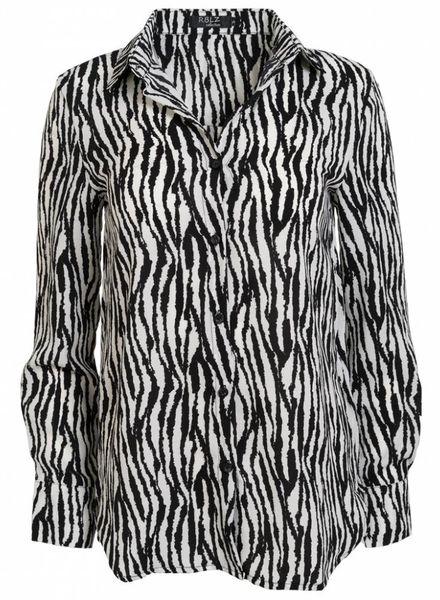 Rebelz Collection Blouse zebra wit/zwart