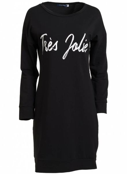 Gemma Ricceri Sweater dress Tres Jolie zwart/wit
