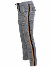 Vera Jo Pantalon ruit Sandy zwart