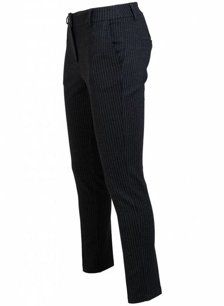 Gemma Ricceri Pantalon krijtstreep zwart