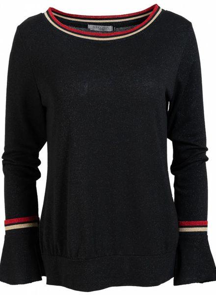 Gemma Ricceri Trui lurex Vera zwart/rood