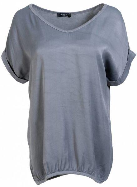 Rebelz Collection Shirt Mia v- hals grijs