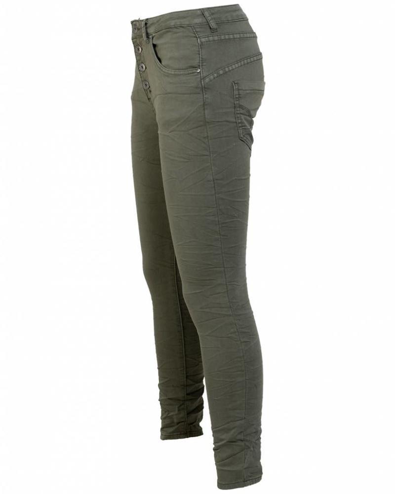 place du Jour Jog jeans Vannie groen