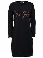 Gemma Ricceri Sweaterdress Tres Jolie zwart/taupe