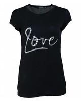 Rebelz Collection Shirt love zilver zwart