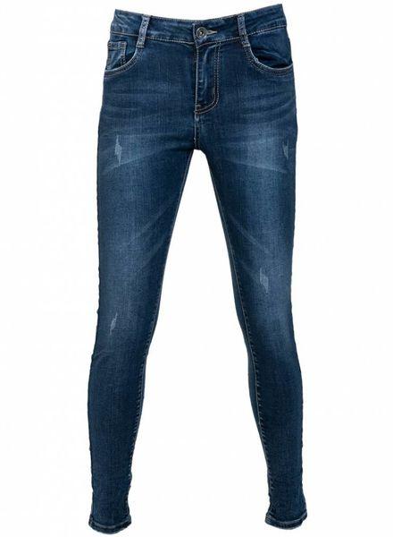 Gemma Ricceri Jeans Anouk damaged blauw