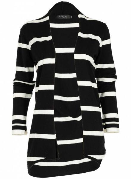 Rebelz Collection Vest Patty zwart/wit