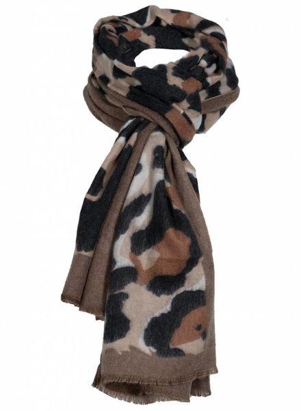 Sjaal Vera zwart/bruin