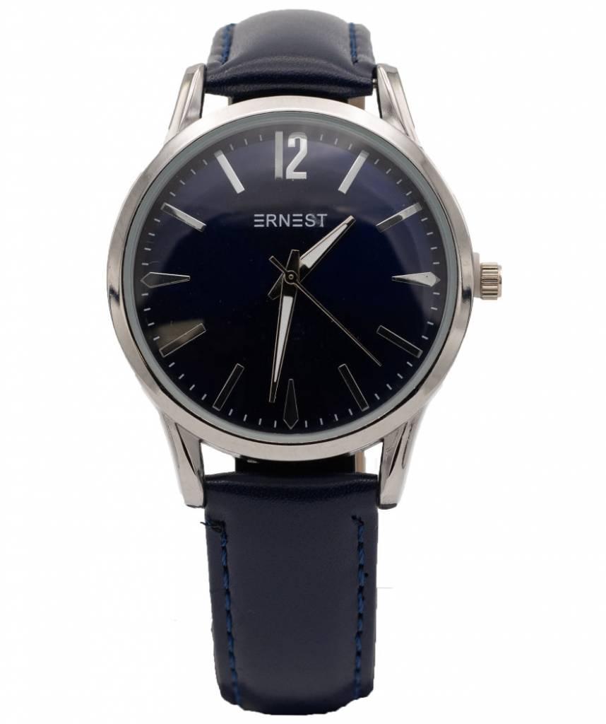 Ernest Horloge Mona donkerblauw