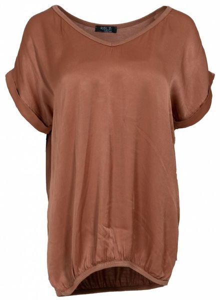 Rebelz Collection Shirt Mia v-hals bruin