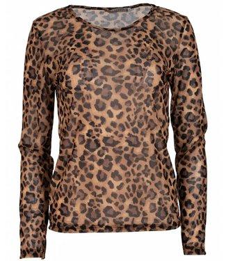 Gemma Ricceri Shirt panter Kikkie bruin