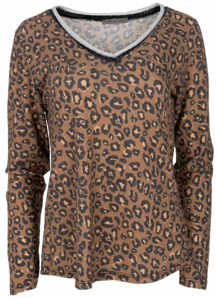 Gemma Ricceri Shirt Trudy panter bruin
