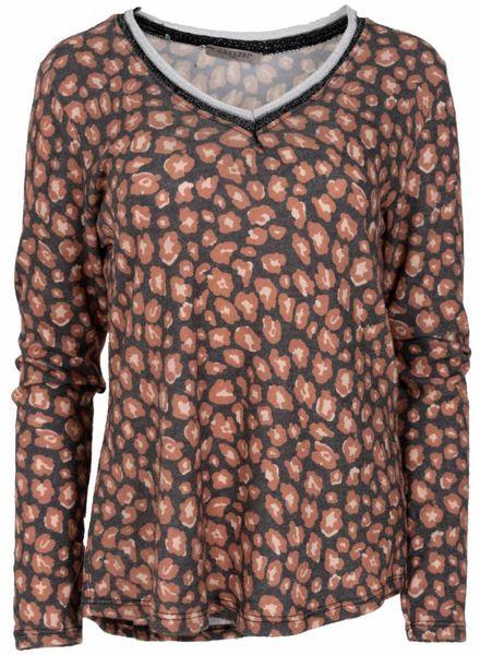 Gemma Ricceri Shirt trudy panter grijs/brique