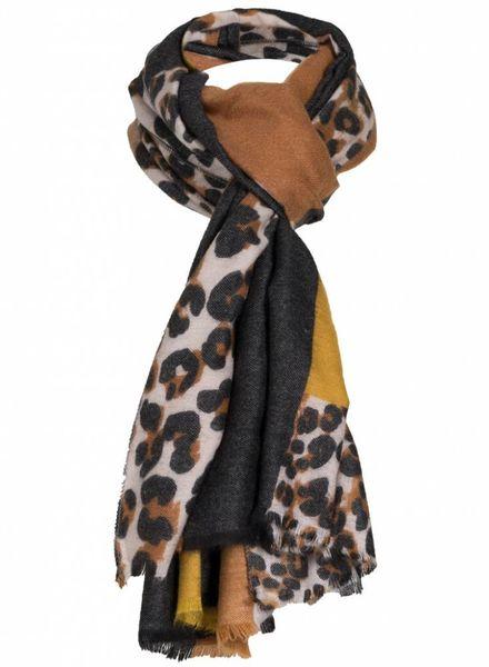Sjaal Vera okergeel/zwart