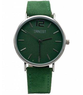 Horloge suedine Gucci groen