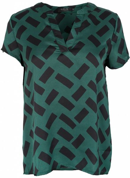Rebelz Collection Blouse Nora zwart/groen