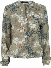 Rebelz Collection Blouse Kaly bloem groen