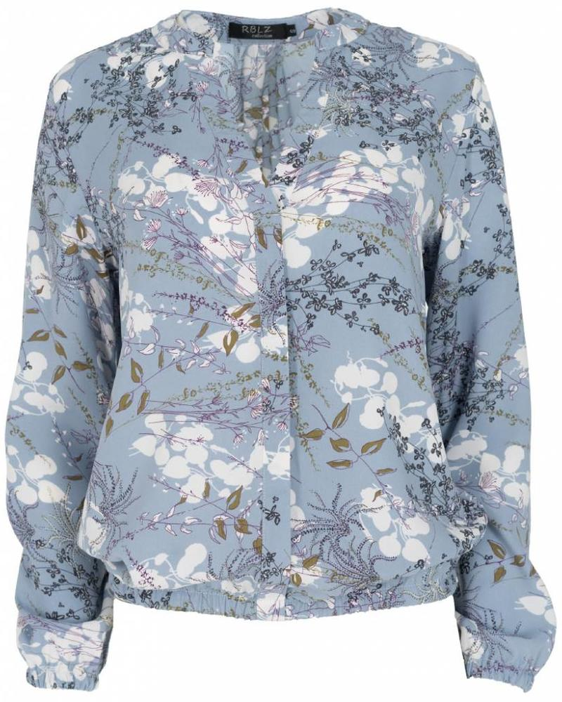 Rebelz Collection Blouse Kaly bloem licht blauw