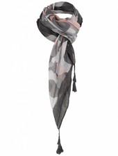 Sjaal Plien zwart/grijs/zalm