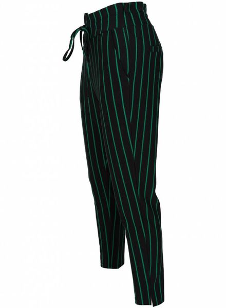 Rebelz Collection Pantalon krijtstreep zwart/guccigroen