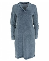 Rebelz Collection Sweaterdress jeans blauw