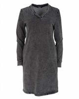 Rebelz Collection Sweaterdress jeans antraciet