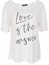 Rebelz Collection Shirt love is off-white