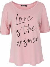 Rebelz Collection Shirt Love is roze