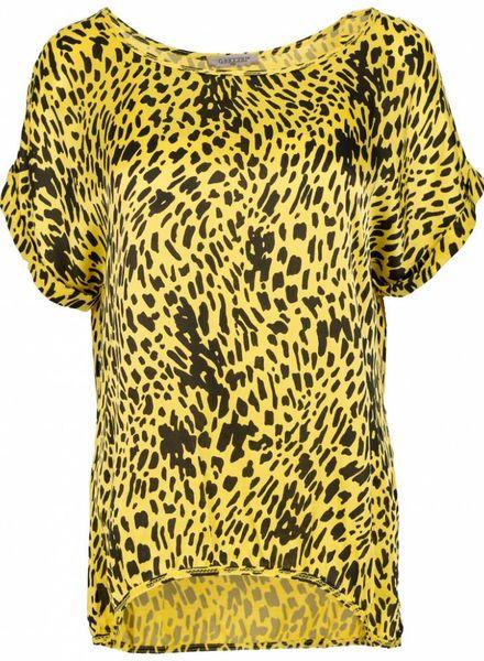 Gemma Ricceri Shirt silk touch Silvie geel