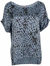 Gemma Ricceri Shirt silk touch Silvie jeansblauw
