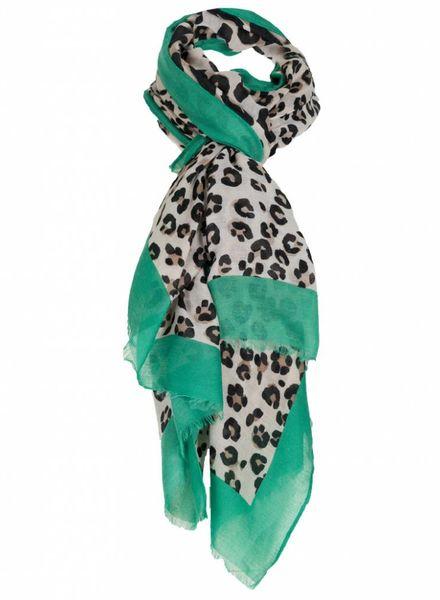 Sjaal panter Bruno zwart/guccigroen
