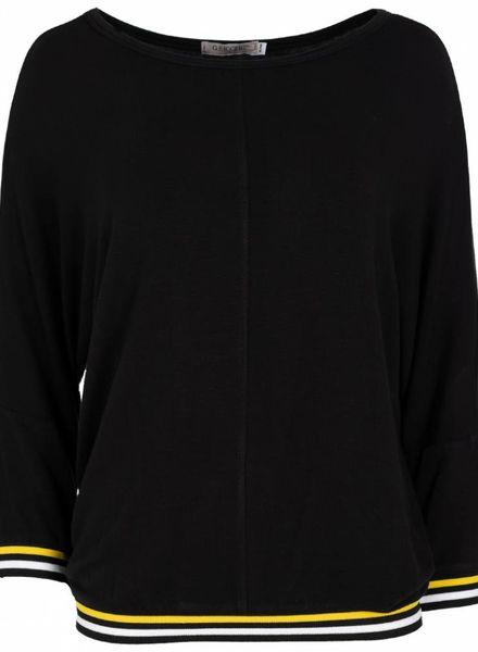 Gemma Ricceri Shirt Thea zwart/oker