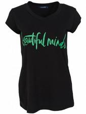 Gemma Ricceri Shirt beautiful minds zwart/gucci groen