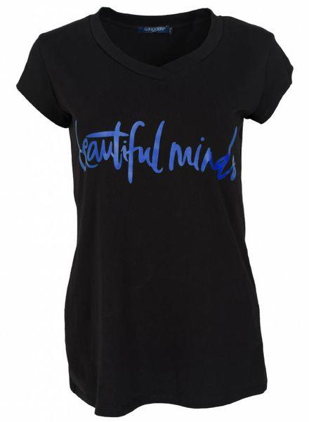 Gemma Ricceri Shirt beautiful minds zwart/kobalt