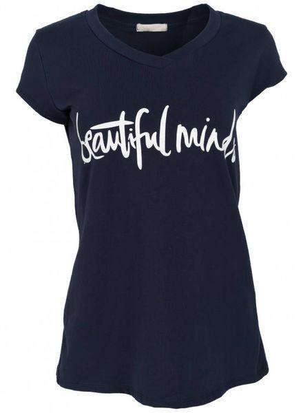 Gemma Ricceri Shirt beautiful minds donkerblauw