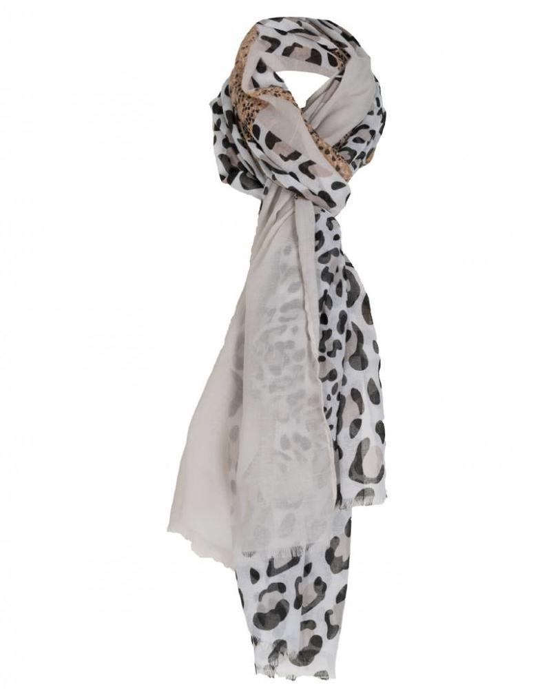 Sjaal panter Elsa  beige
