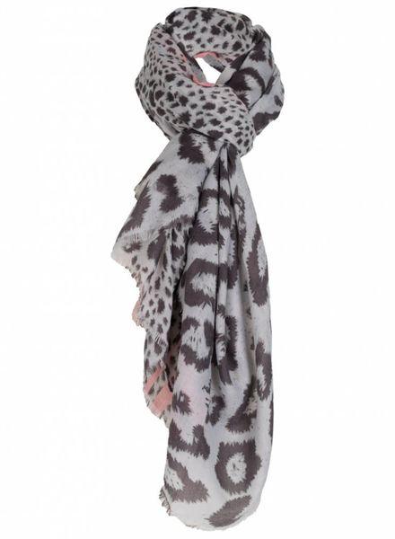 Sjaal liz grijs/roze