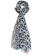 Sjaal panter Elsa blauw